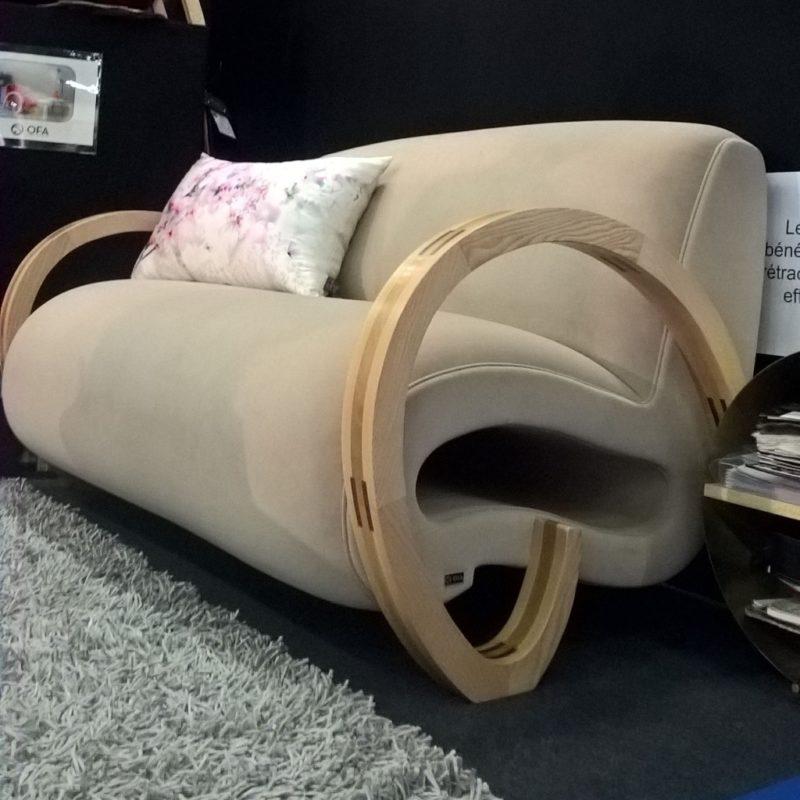 canapé design velours lyon