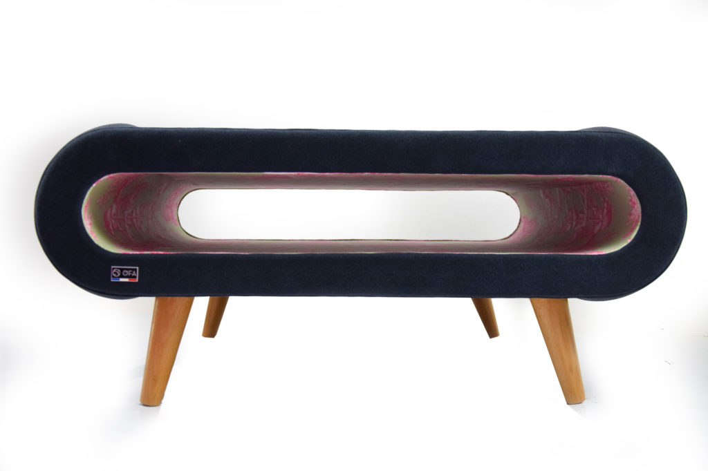 table basse design velours lyon